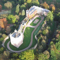 Appleby Castle from the air.